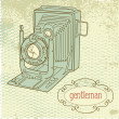 Gentleman's camera — Image vectorielle