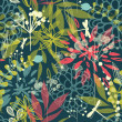 Vector de stock : Tropical flowers