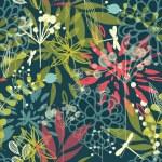 fleurs tropicales — Vecteur