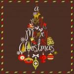 Merry Christmas tree — Stock Vector #34802077