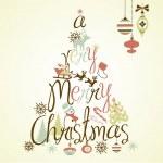 Merry Christmas tree — Stock Vector #34802127