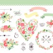 Vector de stock : Wedding graphic set