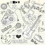 Music Doodles — Stock Vector #34800737