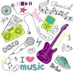 Music Doodles — Stock Vector #34800799