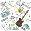 Music Doodles — Stock Vector