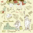 Shopping in New York — Stock Vector