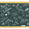 Blackboard scribbles — Stock Vector