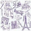 Stock Vector: Sightseeing Paris