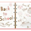 Back to school — Stockvectorbeeld