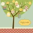 Retro Easter card — Stock Vector