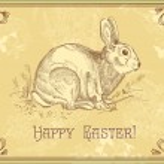 Antique easter rabbit — Stock Vector