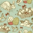 Vintage Easter background  — Stock Vector