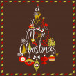 Merry Christmas tree — Image vectorielle