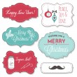 Vintage Christmas Frames — Stock Vector