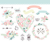 Wedding graphic set — Stockvektor
