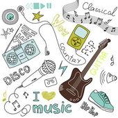 Muziek doodles — Stockvector