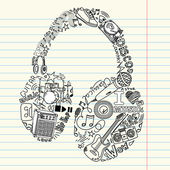Musik doodles — Stockvektor