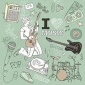Doodle muzyki — Wektor stockowy
