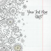 Henna Doodles — Stock Vector