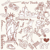 Compras em nova york — Vetorial Stock