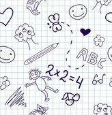 Children's drawings. — Stock Vector