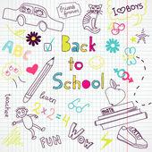 Scuola doodles — Vettoriale Stock