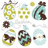 Easter Egg set — Stock Vector