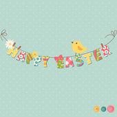 Happy velikonoční přání — Stock vektor
