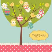 Retro Easter card — Stock Vector
