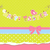 Happy Easter card. — Stock Vector