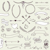 Wedding graphic set — Stockvector