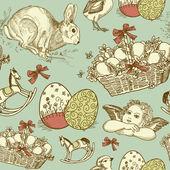 Vintage Easter background — Vetor de Stock