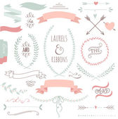 Wedding graphic set — Stock Vector