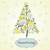 Cartão árvore de natal — Vetor de Stock