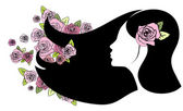 Floral girl — Stock Vector