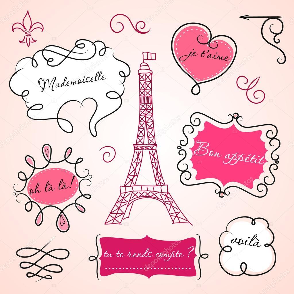 Открытка с днем свадьбы на французском