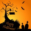 Halloween Background — Vettoriale Stock #35397153