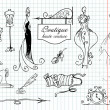 Boutique haute couture — Stockvectorbeeld