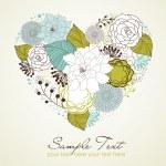 florais coração — Vetorial Stock