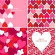 Valentines pattern  — Stockvectorbeeld