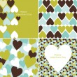Valentines pattern — Vector de stock