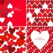 Stock Vector: Valentines pattern
