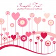 Valentine background — Stockvectorbeeld