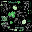 Stock Vector: Saint Patrick's Day doodles