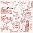 Love   Italy — Stock Vector