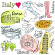 Stock Vector: Sightseeing in Italy