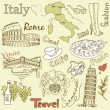 Sightseeing in Italy — Stock Vector