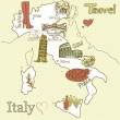 Creative map of Italy — Stock Vector #35398259