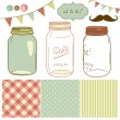 Glass Jars — Stock Vector #35398321