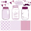 Glass Jars — Stock Vector #35398511